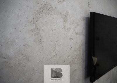 Beton Na Scianie Tv Salon Showroom Biuro1