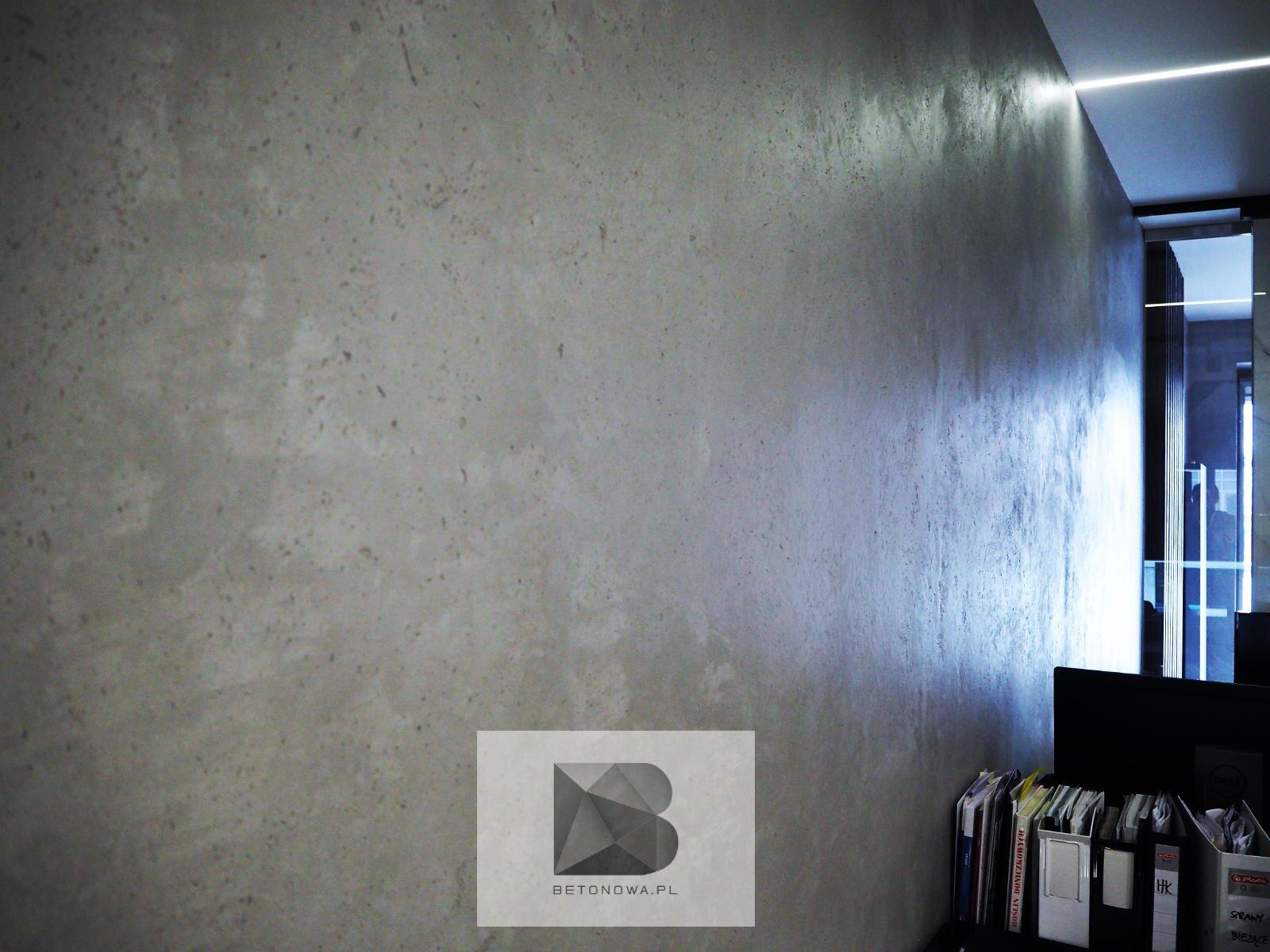 Betonowa Sciana Beton Dekoracyjny1