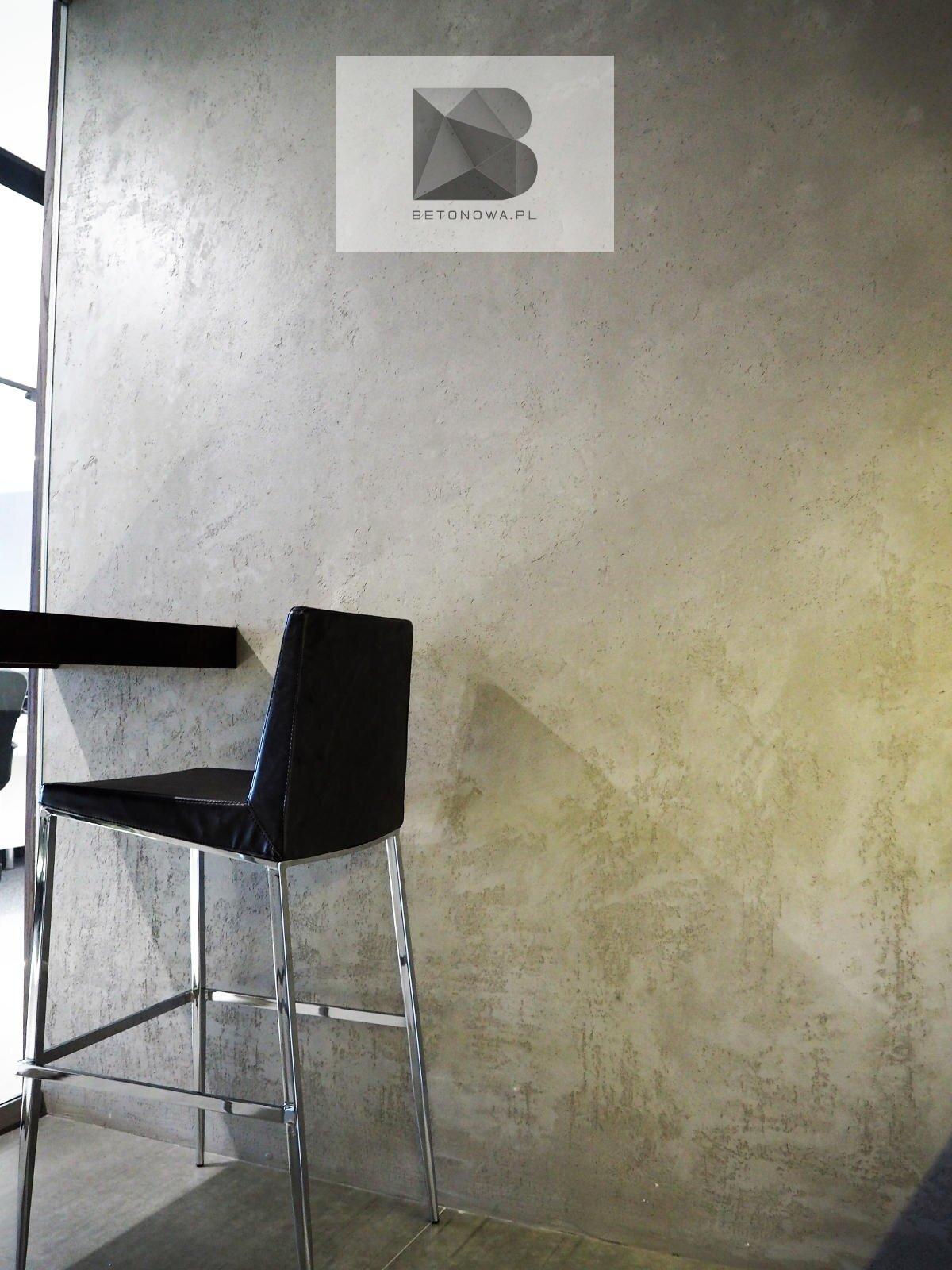 Betonowa Sciana Dekoracyjna Restauracja Hotel Apartament1