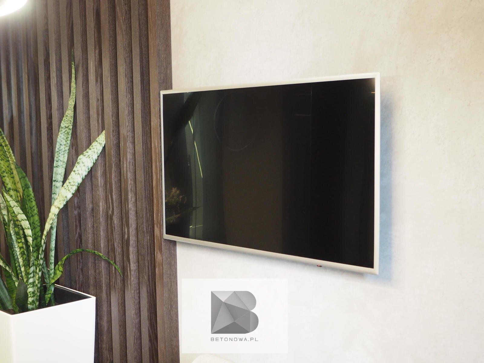 Sciana Betonowa Dekoracyjna Telewizyjna Tv1