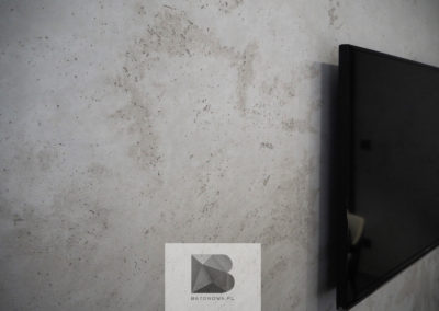 Beton Na Scianie Tv Salon Showroom Biuro1