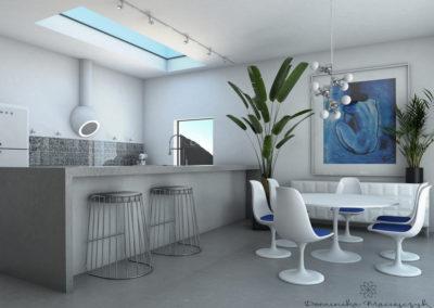 Kuchnia Blaty betonowe Podłoga Salon